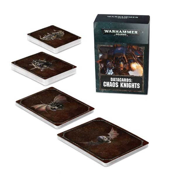 Datacards: Chaos Knights (Englisch)