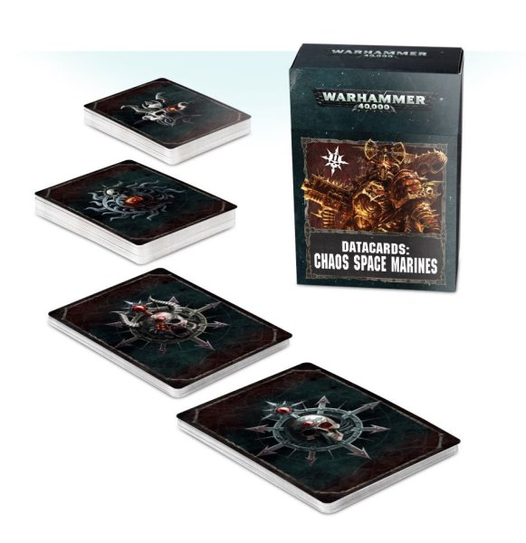 Datacards: Chaos Space Marines Version 2 (Englisch)