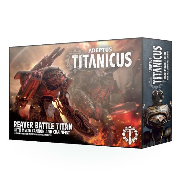 Adeptus Titanicus: Reaver Battle Titan mit Melterkanone und Kettenfaust