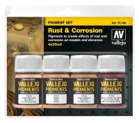 73.194 Vallejo Pigment Set: Rust & Corrosion